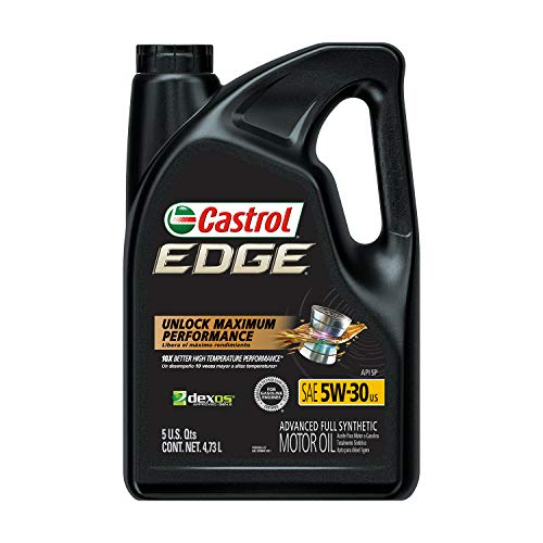 Castrol 03084C Edge 5W-30 Advanced Full Synthetic Motor Oil, 5 Quart