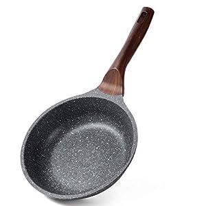 ilimiti 28CM Sartén de Piedra 28cm, 28cm sartenes antiadherentes 11INCH, Mango ergonómico, sarten de Piedra Antiadherente Apta para Todo Tipo de Cocina, Apto para Inducción y Lavavajillas