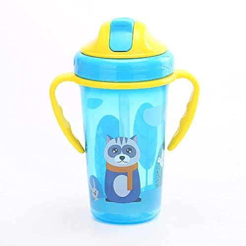 Taza de alimentación para bebés con filtro Biberón para estudiantes con fugas Taza de té para niñas lindas Taza de leche para niños Botella de agua de viaje 300Ml