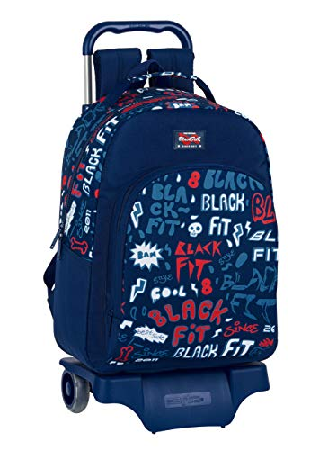 Blackfit8 Mochila 305 con Carro 905 Reciclable Letters, 320x150x420mm