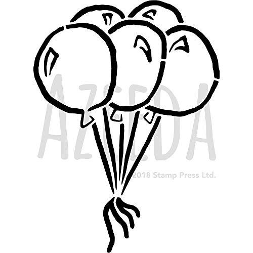 Azeeda A3 'Luftballons' Wandschablone / Vorlage (WS00007414)