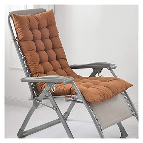 WZLL Relax Liegenauflage Patio Stuhlkissen Verdicken Sitzkissen Hochlehner Außenmatratze Für Sessel Klappstühle Drinnen Draußen (Color : Brown, Size : 48X155cm)