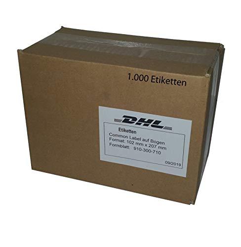 DHL Etiketten Versandaufkleber Label selbstklebend 102 mm x 207 mm für Laserdrucker/Tintenstrahldrucker 1.000 Blatt 910-300-710