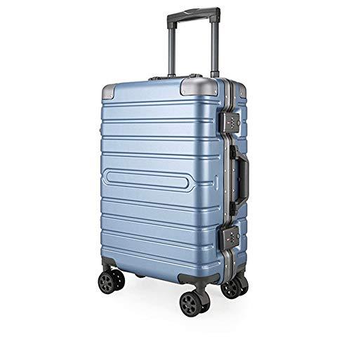 Ys-s Personalización de la tienda PC caja de la carretilla marco de aluminio de embarque negocio estuche de regalo retro maleta esquina equipaje, maleta con ruedas moda de negocio, resistente al agua,