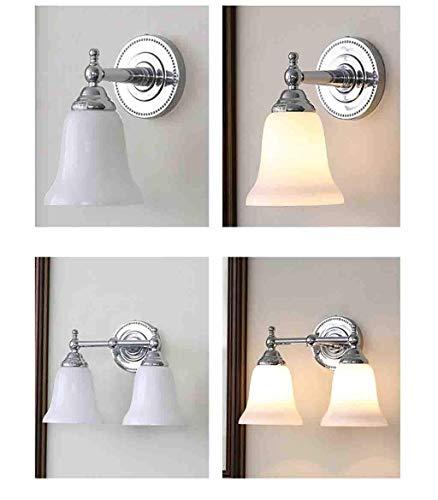 JJZLY Applique de cheminée à la Mode et Simplement équipée pour la création de l'argent Salle de Bains Toilette Salle de Bains Miroir Phare Miroir Sélectionnez,A