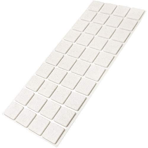 Feltrini autoadesivi bianco 45/pezzi 28/X 28/mm