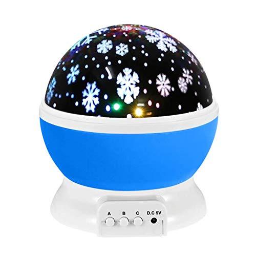 Kinderprojektionsnachtlicht, Drehbarer Sternenhimmelprojektor, Kann über ein USB-Kabel Oder Einen Akku Verwendet Werden und ist für Kinder im Babyzimmer und für die Partydekoration Geeignet,A1