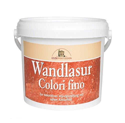 Meffert 1 L Wandlasur Colori fino, Weiß Antikeffekt durch Weiße Pigmente