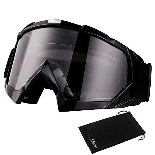 Sijueam Motorradbrillen Hochwertige Skibrille Anti Fog UV Schutzbrille mit Double Lens Schaumstoffpolsterung Uvex für Outdoor Aktivitäten Skifahren Radfahren Snowboard Wandern Augenschutz