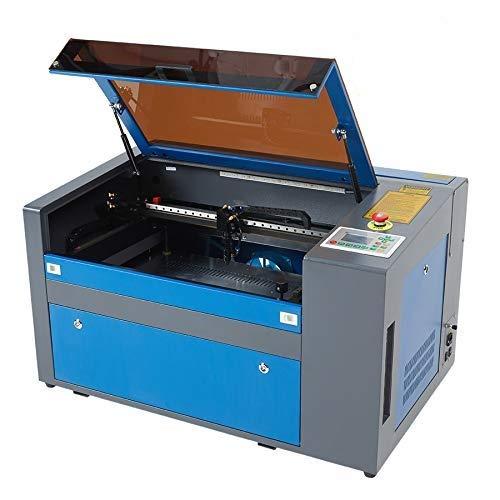 Z ZELUS 50W Macchina per Incisione Laser CO2 Incisore Stampante Laser Engraver Regolabile con Port USB Universale Display LCD Punto Rosso 300 X 500MM (TROCEN Software)