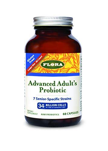 FLORA - Advanced Adult Probiotic, 34 Billion CFU, RAW, 60 Count