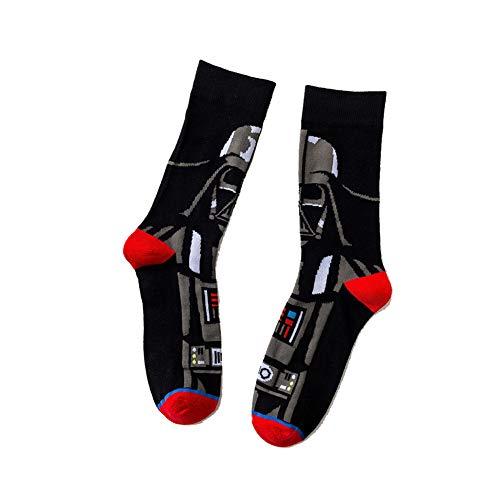 1 par de calcetines Star Wars, calcetines de algodón, Star Skateboard, dibujos animados, medias de movimiento, personaje bandera Elite b