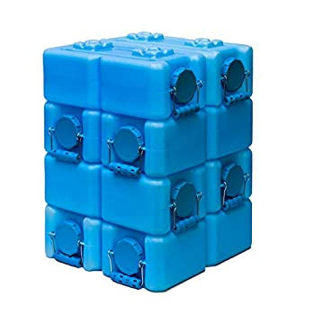 WaterBrick - Emergency Water and Food Storage Containers - 8 Pack Blue