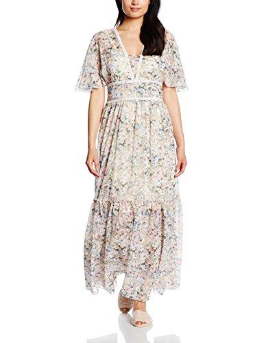 TAIFUN by Gerry Weber Damen Tropical Breeze Kleid, Elfenbein (Kiesel Druck 9007), 38