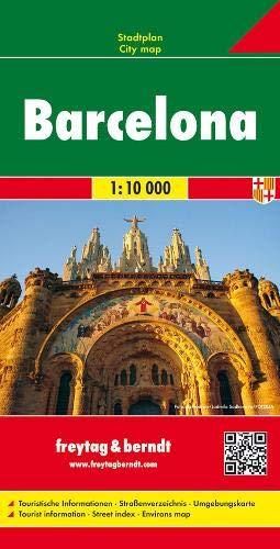 Barcelona, Stadtplan 1:10.000: Touristische Informationen - Straßenverzeichnis - Umgebungskarte (freytag & berndt Stadtpläne)