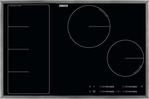 ZANUSSI ZIF 8471 XB/Glaskeramik-Induktionskochfeld/Edelstahlrahmen / 80 cm / 4 Zonen