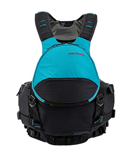 Astral BlueJacket Life Jacket PFD for Sea, Whitewater, Fishing and Touring Kayaking, Glacier Blue,...