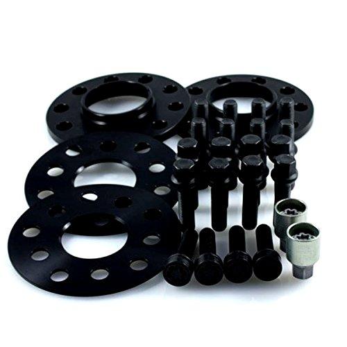 TuningHeads/H&R .0478943.DK.B55571-05-10A.TOURAN-TYP-1T ABE Spurverbreiterung Blackline, VA 10 mm/HA 20 mm + Radschrauben + Felgenschlösser