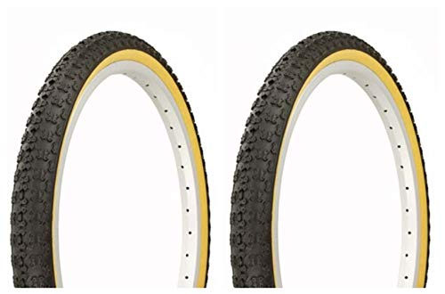 Lowrider Tire Set. 2 Tires. Two Tires Duro 20' x 1.75' Black/Gum Side Wall Bike Tires, Bicycle Tires, BMX Bike Tires, Chopper Bike Tires