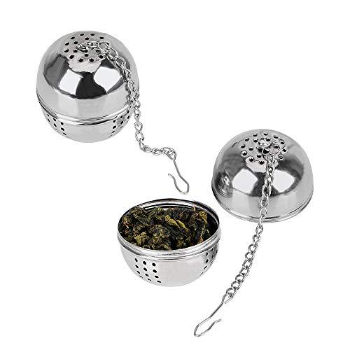 NNMNBV Edelstahl-Tee-Ei für lose Teeblätter, Gewürzsieb, zum Aufhängen, kugelförmig, für Zuhause und Küche