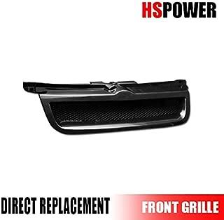 HS Power Black Finished Aluminum Mesh Badgeless Front Hood Bumper Grill Grille for 1999-2005 Volkswagen Jetta/Bora MK4