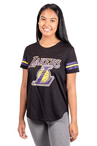Ultra Game NBA Los Angeles Lakers Womens Soft Mesh Jersey Tee Shirt, Black, X-Large