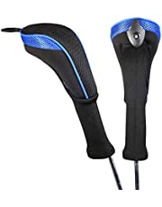 Andux 2 Pack Long Neck Golf Hybrid Club Head Covers Interchangeable No. Tag CTMT-01 (Blue)