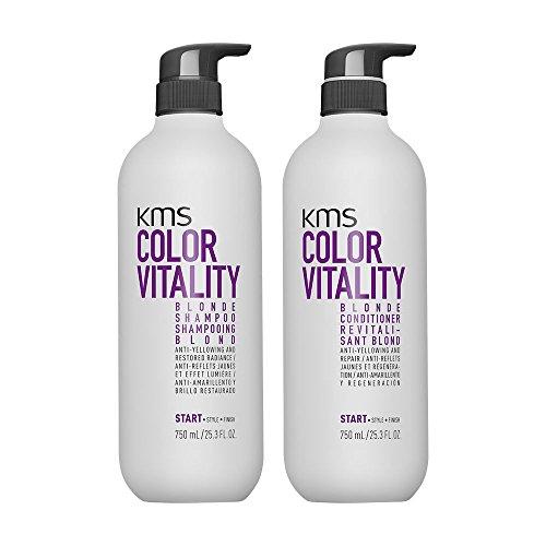 KMS California Color Vitality Rubio Champú 750 ml y acondicionador 750 ml