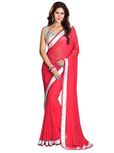 Mirchi Fashion Bollywood indischer Frauen Sari mit Ungesteckt Oberteil/Top Party Indians Saree Kleidung