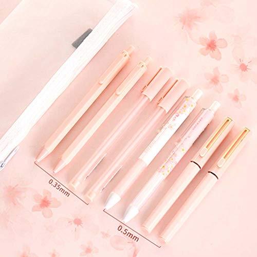 Shager Signing Pen Cherry Limited Set Süßes Mädchen Herz Pink Gel Kugelschreiber 0,5 mm Pink, Premium Comfort Griff, nachfüllbar (308HSAN)