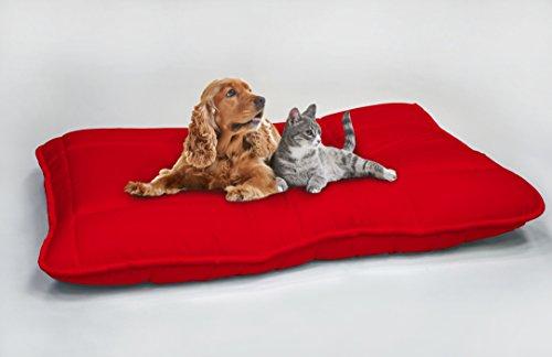 Elegant Hundekissen Maxy, Rot, 60x100cm
