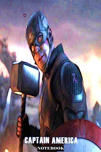 Captain America: Whatever It Takes ; Marvel Avengers Superhero Gift Notebook Journal 6 x 9 inches