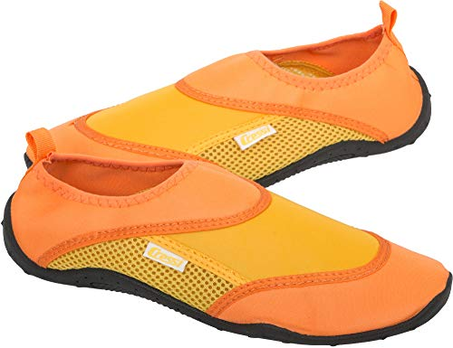 Cressi Coral Shoes Zapatilla para Deportes Acuáticos, Adultos Unisex, Naranja/Amarillo, 47