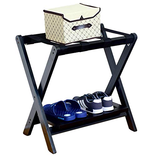 Learn More About CHAOYANG Hotel Folding Luggage Rack, Travel Rest Stool, Household Solid Wood 2 Laye...