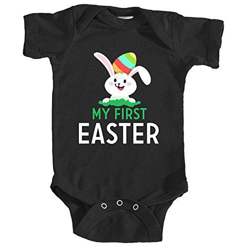 Promini Body pour bébé Inscription My First Easter - Noir - 9 mois