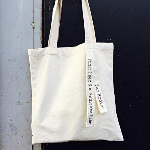 ARR Vrouwen Canvas Bag Letters Riem Katoen Schoudertas Vrouwelijke Herbruikbare Shopper Tote Dames Eco Doek Shopping Tassen