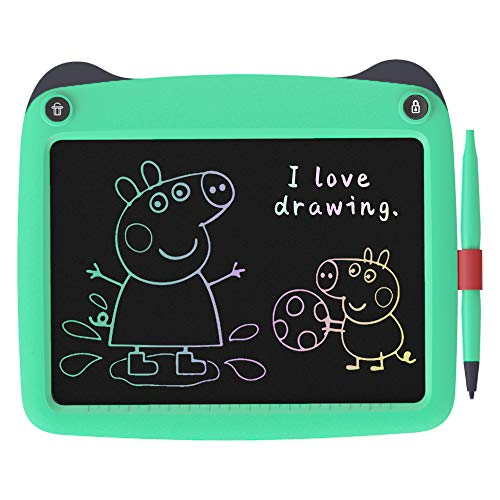 FLUESTON LCD Writing Board 9 Inch Drawing Tablet for Kids, e-Writer Doodle Board and Colorful Screen Scribble pad for Kids Ages 3+ (Green)