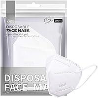 [20 PCS] Maschera facciale FFP2 / KN95, maschera FFP2 protettiva a 5 strati Certificata CE Alta capacità di filtrazione...