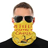 Bandana protettiva per il viso e il formaggio, motivo maccheroni, passamontagna