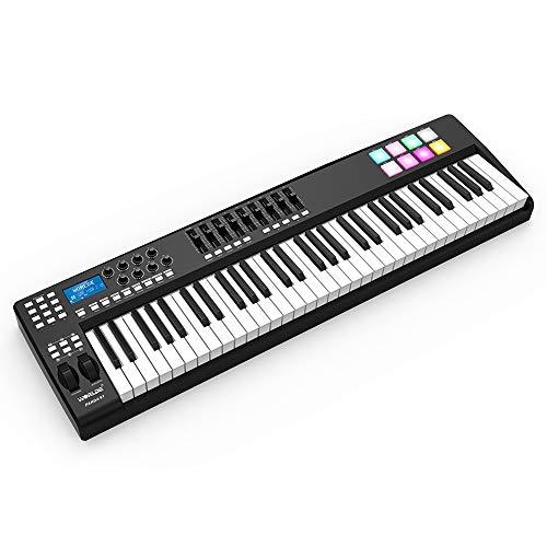 Muslady USB MIDI Keyboard Controller 61-toets 8 RGB draagbare Kleurrijke verlichte trekkers met USB-kabel WORLDE PANDA61