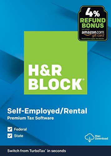 H&R Block Tax Software Premium 2019  with 4% Refund Bonus Offer [Amazon Exclusive] [Mac Download]