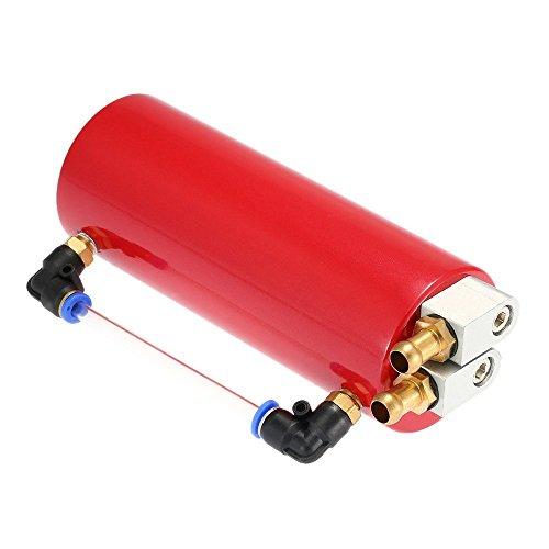 KKmoon Récupérateur d'huile universel en aluminium pour voiture de course, kit réservoir turbo rond