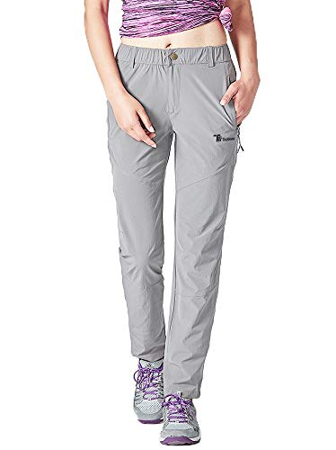 Rdruko Women's Lightweight Breathable Casual Hiking Pants Outdoor Sports Quick Dry Sweatpants(Grey, US S)