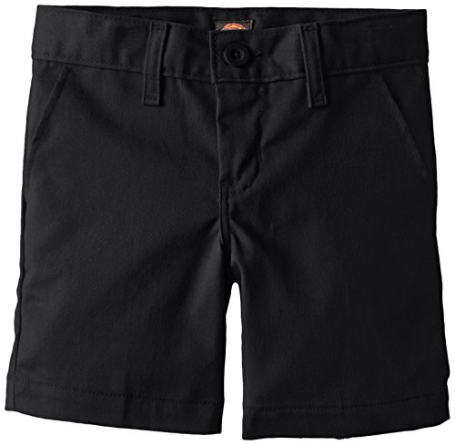 Dickies Khaki Big Boys' Flex Waist Stretch Flat Front Short, Black, 12