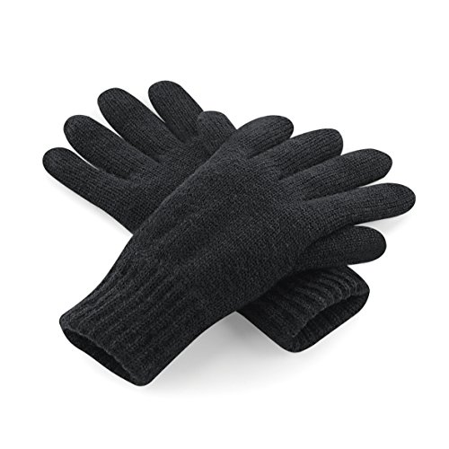 Beechfield Unisex Classic Thinsulate Thermo Winter-Handschuhe, Black, Small / Medium