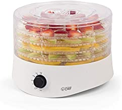 Commercial Chef CCD100W6 Compact Dehydrator, Beef Jerky Maker, Food Preservation Device, 100 Watts, White
