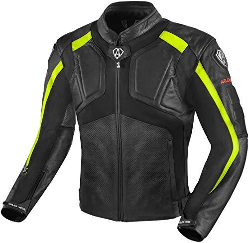 Arlen Ness Sportivo Motorrad Racing Sport Lederjacke Gr. S, schwarz / gelb