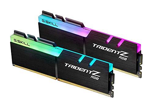 Mémoire PC - G.Skill Trident Z Rgb 16 Go (2X 8 Go) Ddr4 4266 MHz Cl19 - Kit Dual Channel 2 Barrettes de RAM Ddr4 Pc4-34100 -F4-4266C19D-16Gtzr Avec LED Rgb (Garantie 10 Ans Par G.Skill)