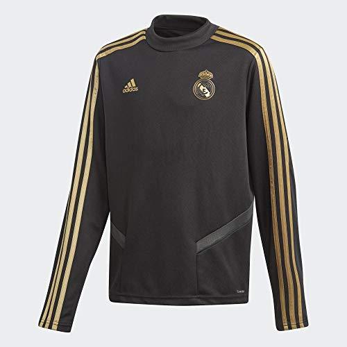 adidas Real Madrid Training Top Boys Sudadera, Niños, Negro (Black/Dark Football Gold), 15-16Y