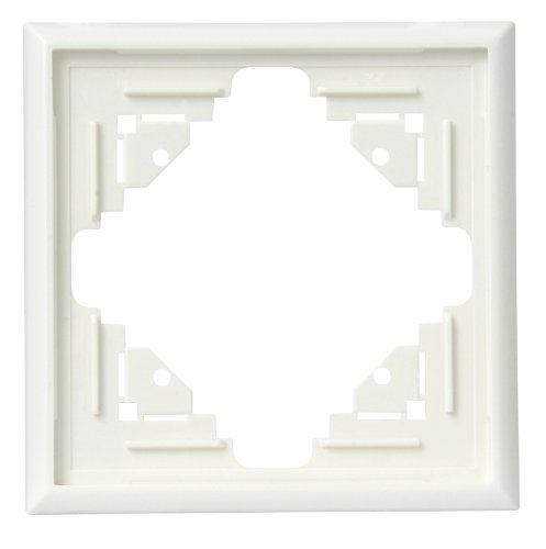 Kopp 309101088 Malta afdekframe voor verticale en horizontale montage 1-vak, crème-wit